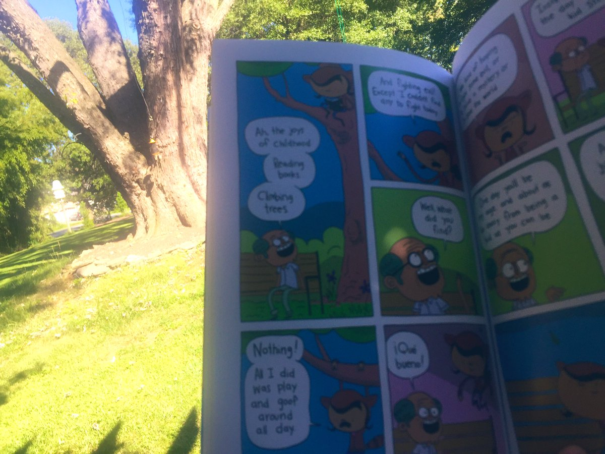 <a target='_blank' href='http://twitter.com/jarodrosello'>@jarodrosello</a> Heroes-in-hoodies + 'Saturday-morning action glowing with Caribbean sunshine' = a satisfying Sunday afternoon read with lots of chuckles. Can't wait to tell my students about Red Panda & Moon Bear tomorrow. <a target='_blank' href='http://twitter.com/APSLibrarians'>@APSLibrarians</a> <a target='_blank' href='https://t.co/JFSxe3EOnF'>https://t.co/JFSxe3EOnF</a>