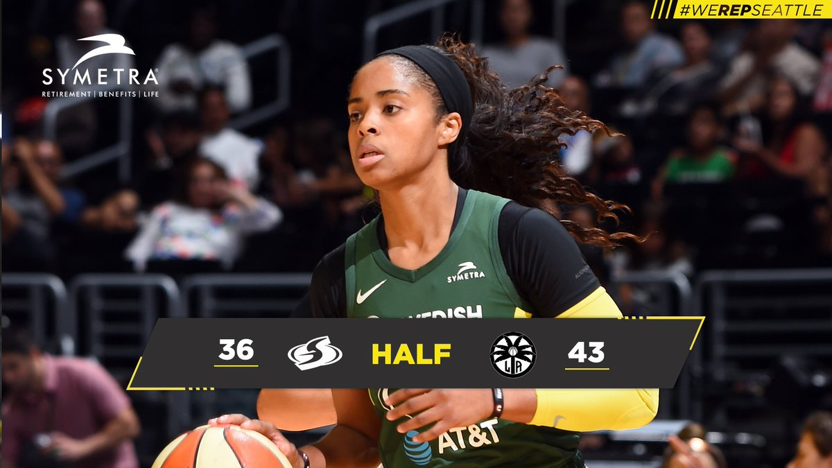 Half.   Plenty of hoops left here in LA  #KeepFighting  #WeRepSeattle