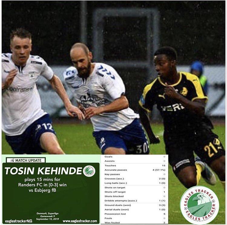Tosin Kehinde @thetosinkehinde came on as an 80th min sub in #randers @RandersFC_ #denmark #superliga win over #esbjerg #fb ———————————- #eaglestracker #naijafootball #kehinde #tosin #tosinkehinde #athletebranding #footballbusiness #team9jastrong <br>http://pic.twitter.com/iK73TP8S89