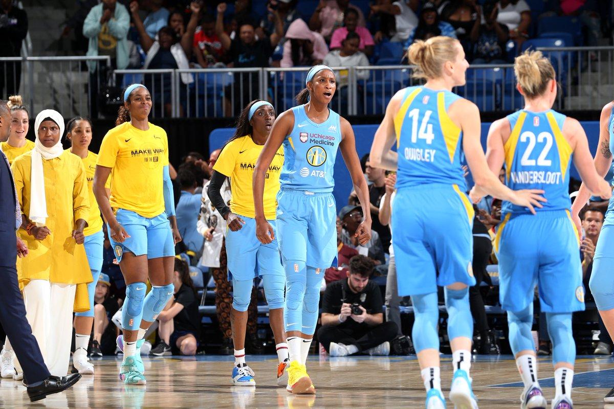 ONE MORE STEP. #WNBAPlayoffs time! 💪🏾😈🍴  ⏰: 4PM CDT/ 23:00🇪🇸/21:00 🇸🇳 📍: Las Vegas  📺: ESPN2/TSN2 #SkyTown #OurTown #GameDay