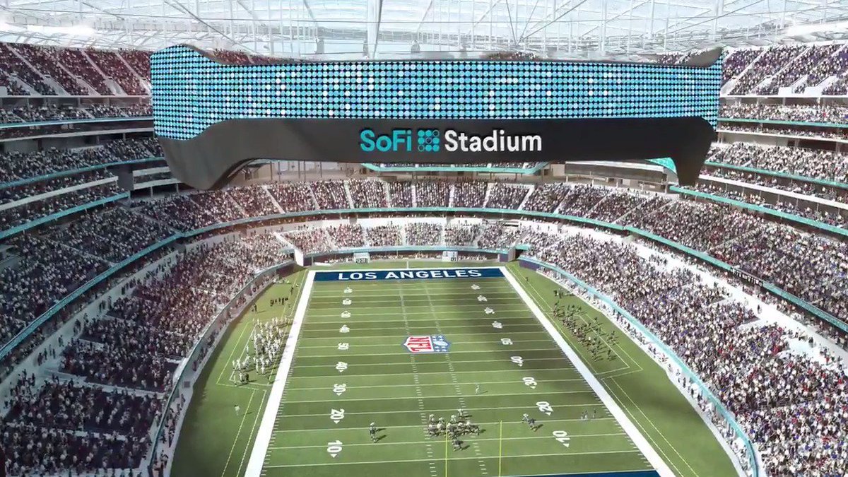 Image for the Tweet beginning: Introducing @SoFi Stadium.   Get ready