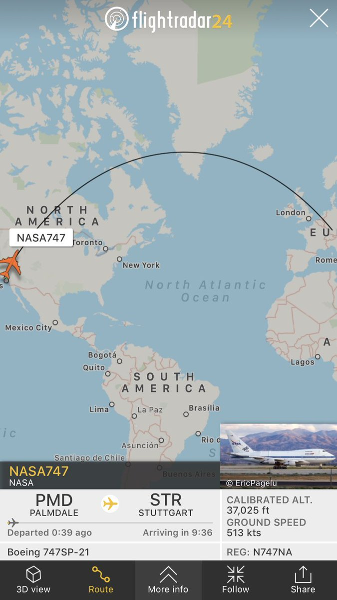 The @SOFIAtelescope is on its way to Germany to perform its