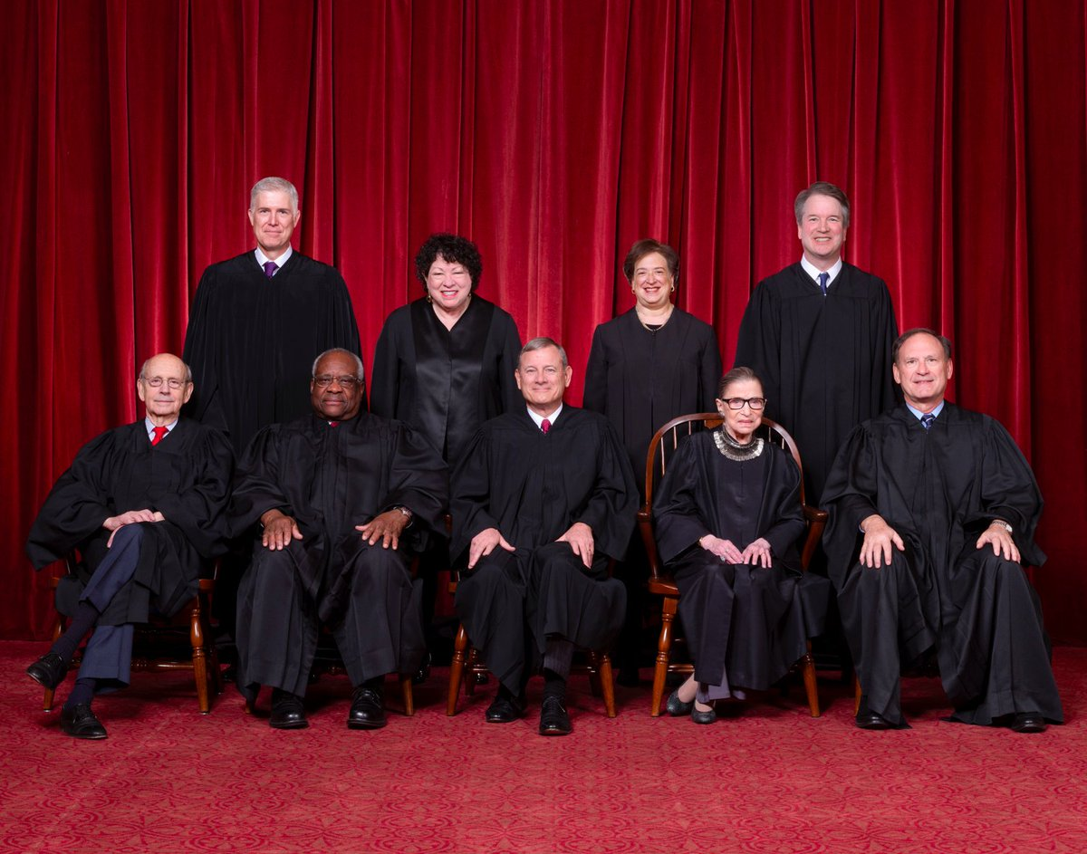 Of the 5 conservatives on the Supreme Court: 4 were appointed by presidents who did not originally win the popular vote (Roberts, Alito, Gorsuch, Kavanaugh). 2 have been credibly accused of sexual misconduct (Thomas and Kavanaugh). 1 (Gorsuch) was appointed to a stolen seat.