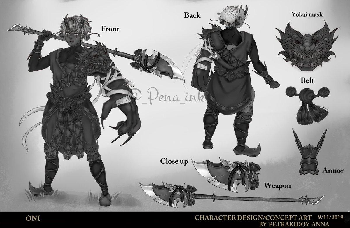 Pena Ink On Twitter Oni Original Character Design Concept