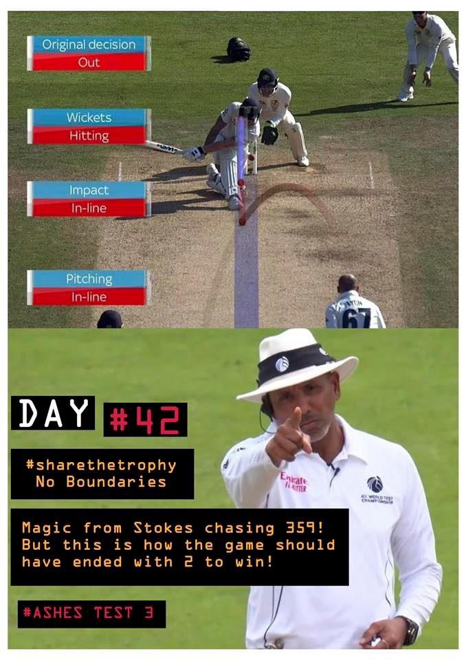 Remember Day #42, Stokes magic but match should have ended with 2 to win 🤦♂️ Game still on in #ashes finale though 👍#sharethetrophy #backtheblackcaps https://twitter.com/thevipersden/status/1173279132840390656…