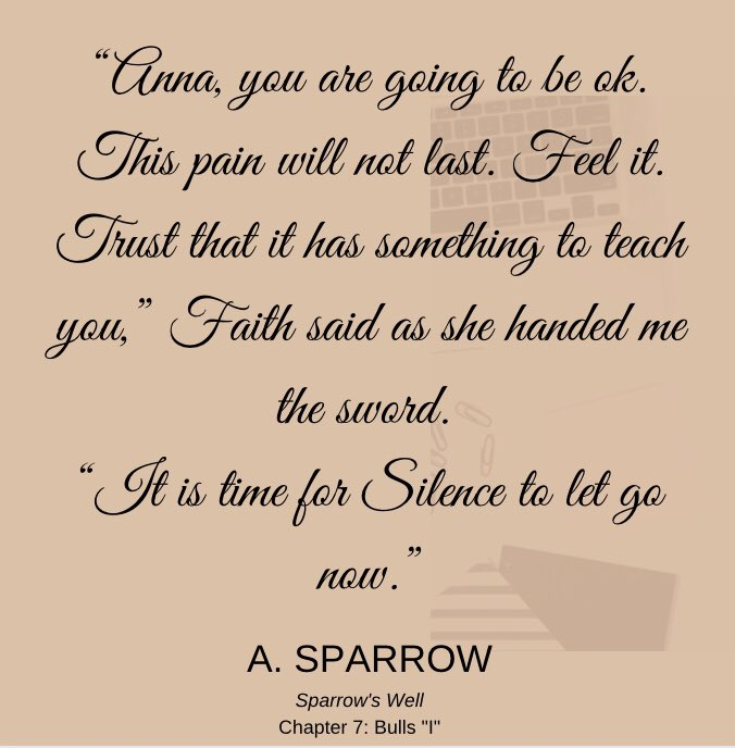 Found this nugget while editing today: #SparrowsWell