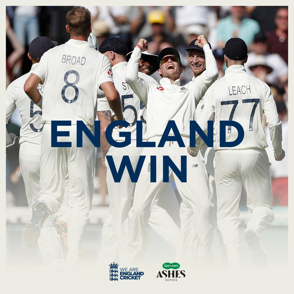 WHAT A WAY TO END THE SUMMER!!! Scorecard/Videos: ms.spr.ly/6016TPbsy #Ashes
