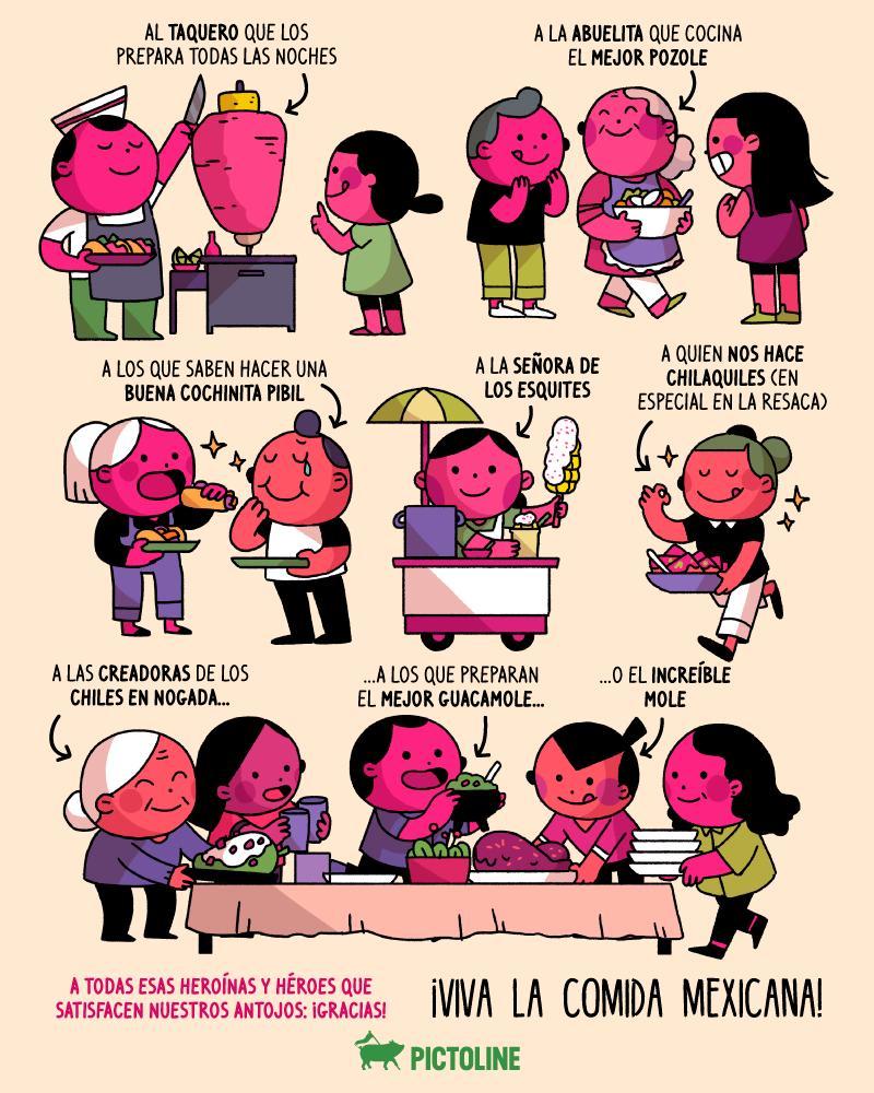 Este #15DeSeptiembre¡Vivan las heroínas y héroes de la gastronomía mexicana! 🌮🌽🌶️🇲🇽