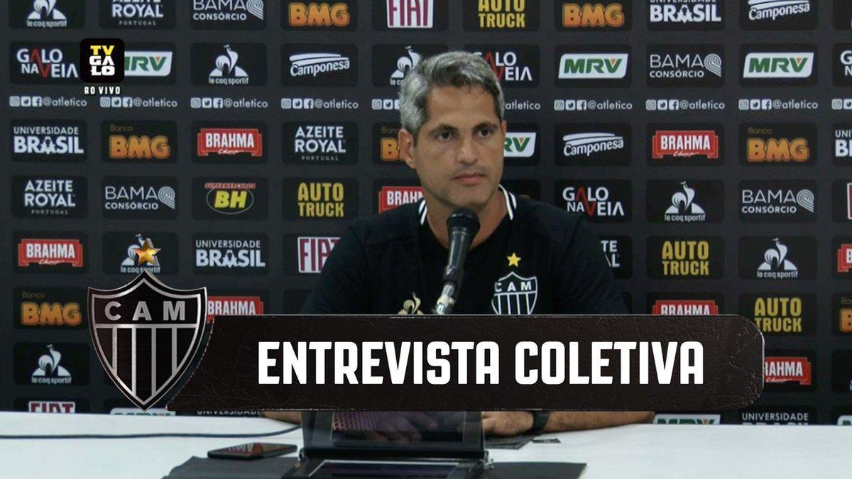 🎥 Veja a entrevista coletiva do técnico Rodrigo Santana: https://t.co/ufKSNWhBZt   #Galo #CAMxINT 🏴🏳 https://t.co/Qw8wUBuIBr