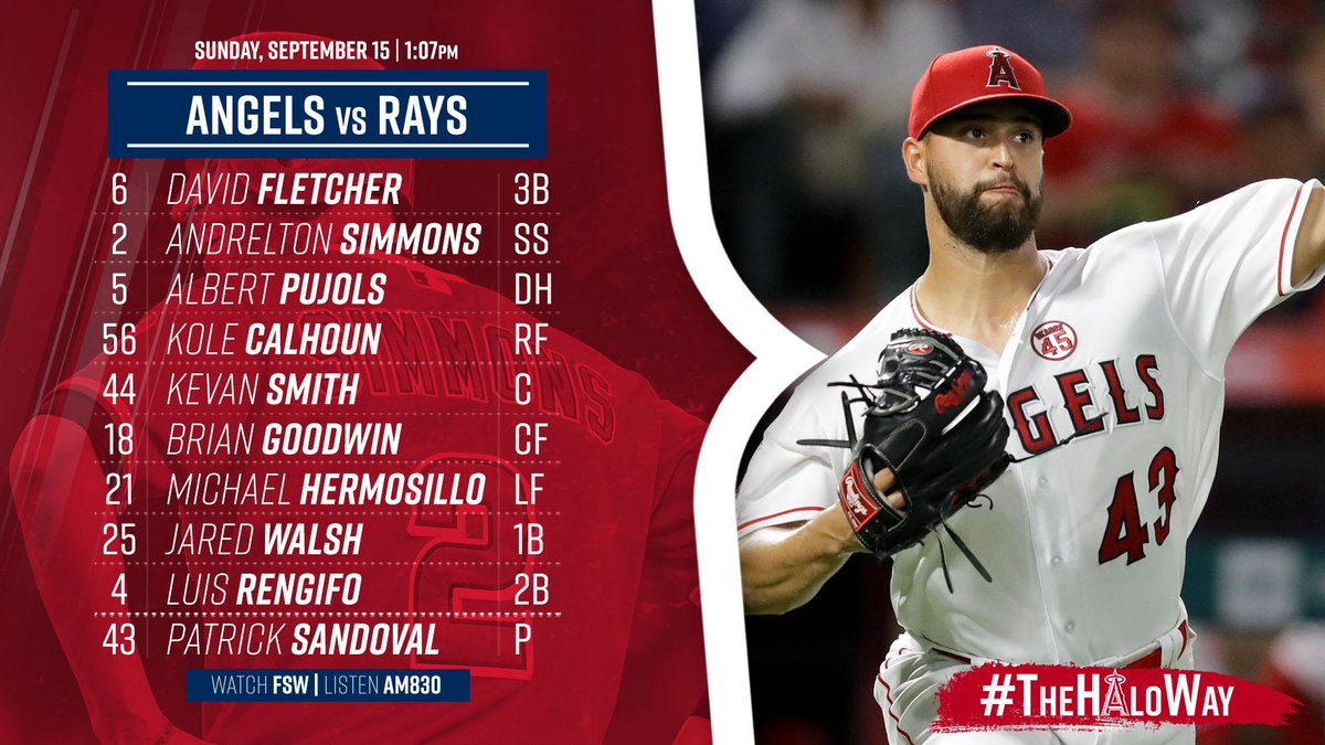 Angels wrap up the homestand today. Sandoval is toeing the rubber. #TheHaloWay  <br>http://pic.twitter.com/KUXE0jxcYC