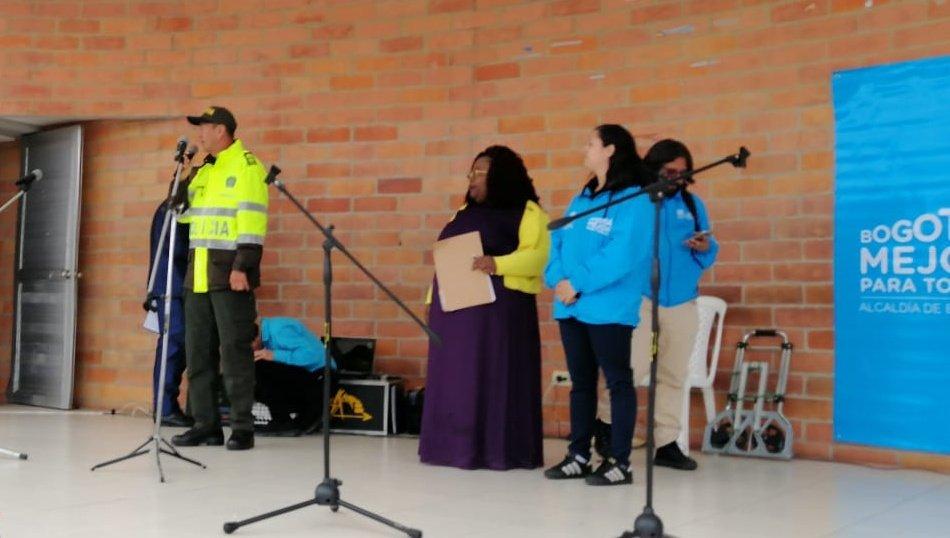 Participamos del segundo encuentro 'Integración Local de Familias Víctimas de Conflicto Armado' en la localidad #SanCristóbal #DerechoshumanosMEBOG