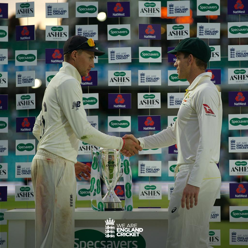 Nothing to separate the sides after an incredible series 🤝Congratulations to Australia on retaining the Ashes 🏴󠁧󠁢󠁥󠁮󠁧󠁿🇦🇺