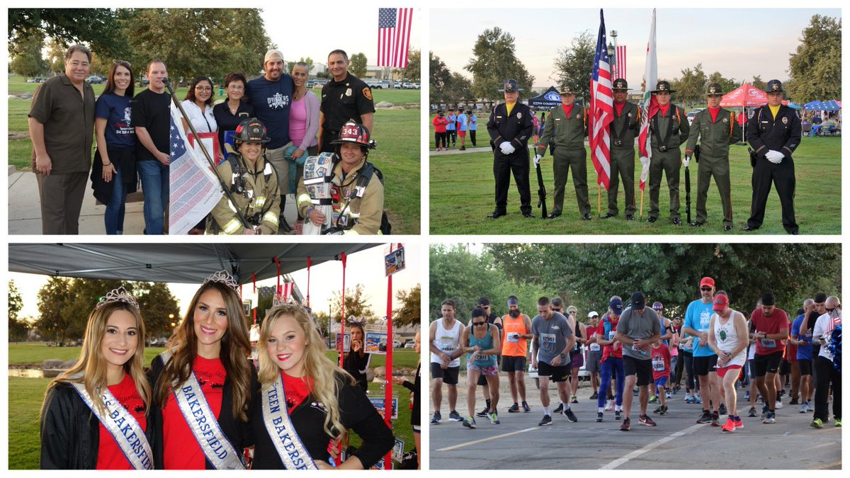Honoring the sacrifices of our #FirstResponders and #Military heroes at the 2019 @Tunnel2Towers 5K Run & Walk Bakersfield in memory of #sept11 hero, #firefighter firefighter Stephen Siller who gave up his life while saving others.