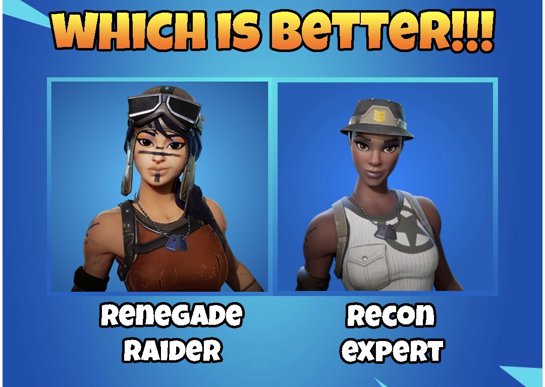Like for renegade raider, retweet for recon expert! <br>http://pic.twitter.com/nP845Er34e