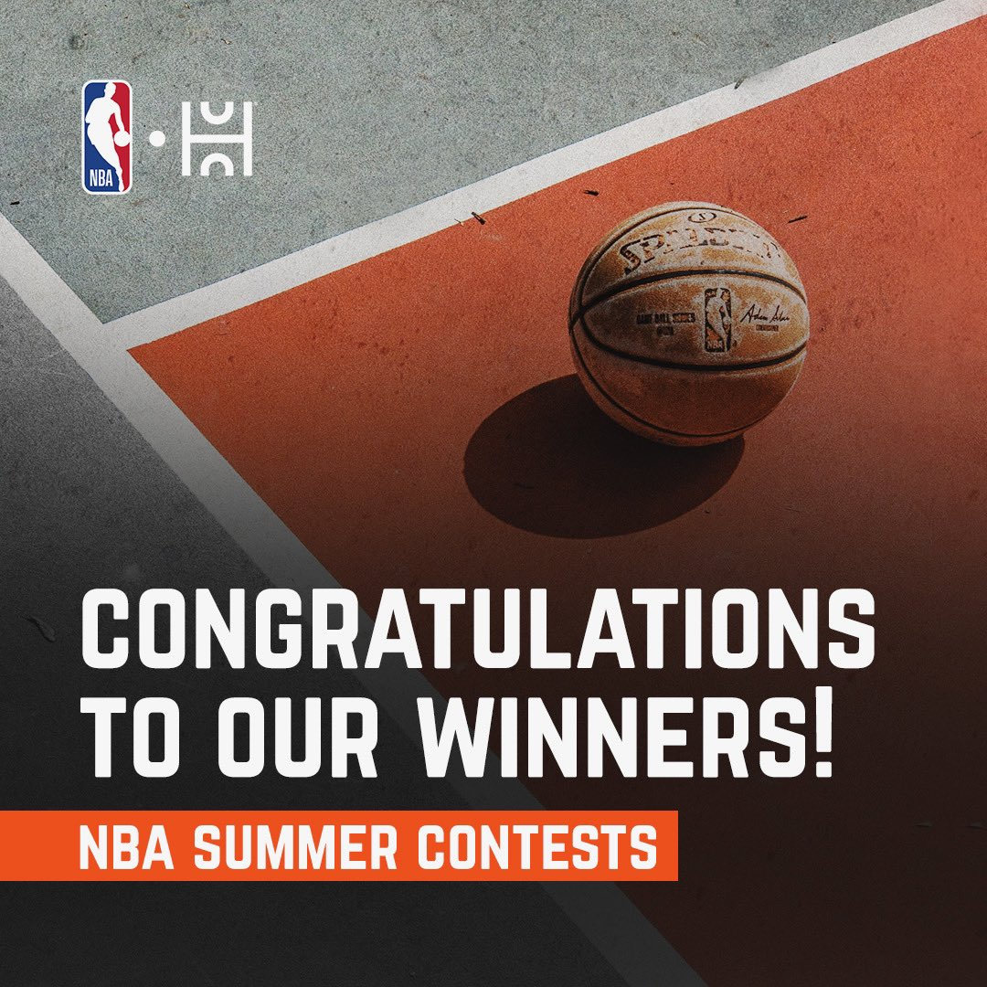 Congrats to our winners of our @nba Summer Shootout and Dribble Battle! If you placed in the top 20 please check your email to claim your prize🏀  Please also check your email if you participated in the contests as you may have won a free Spalding Basketball as well:)
