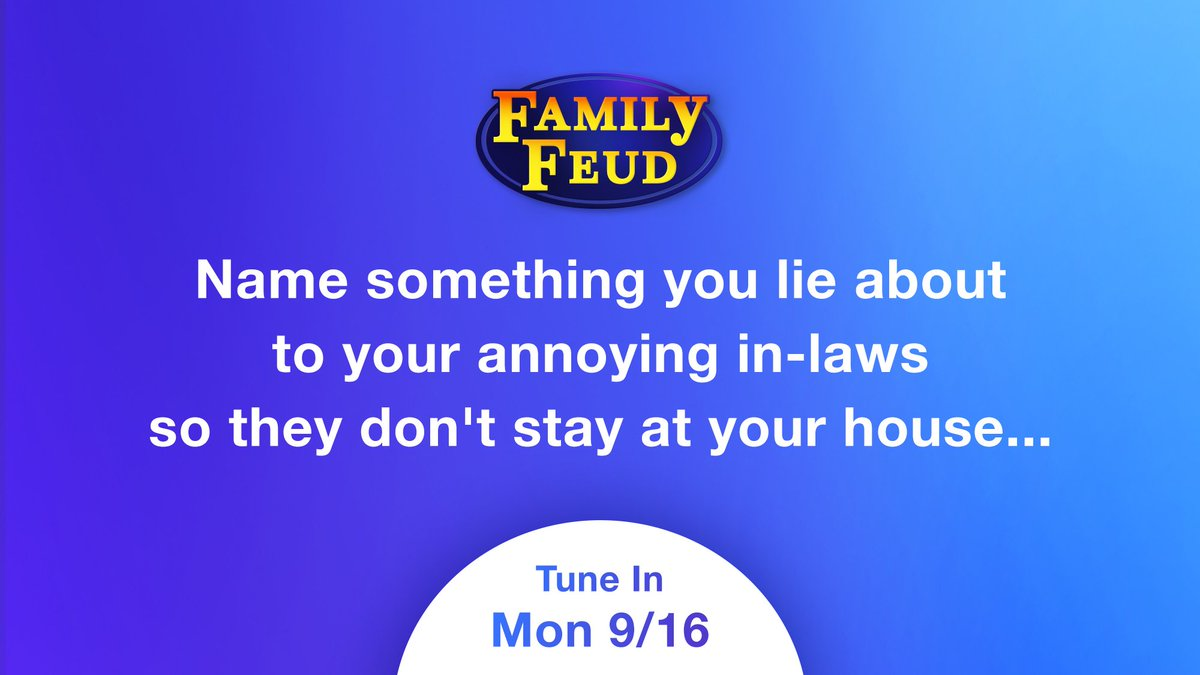 😂😂😂I cant wait to see your answers on this one!!! Give me the top 3 answers on the board! Tune in today to find out the answers! Watch more #FamilyFeud on SteveHarvey.com