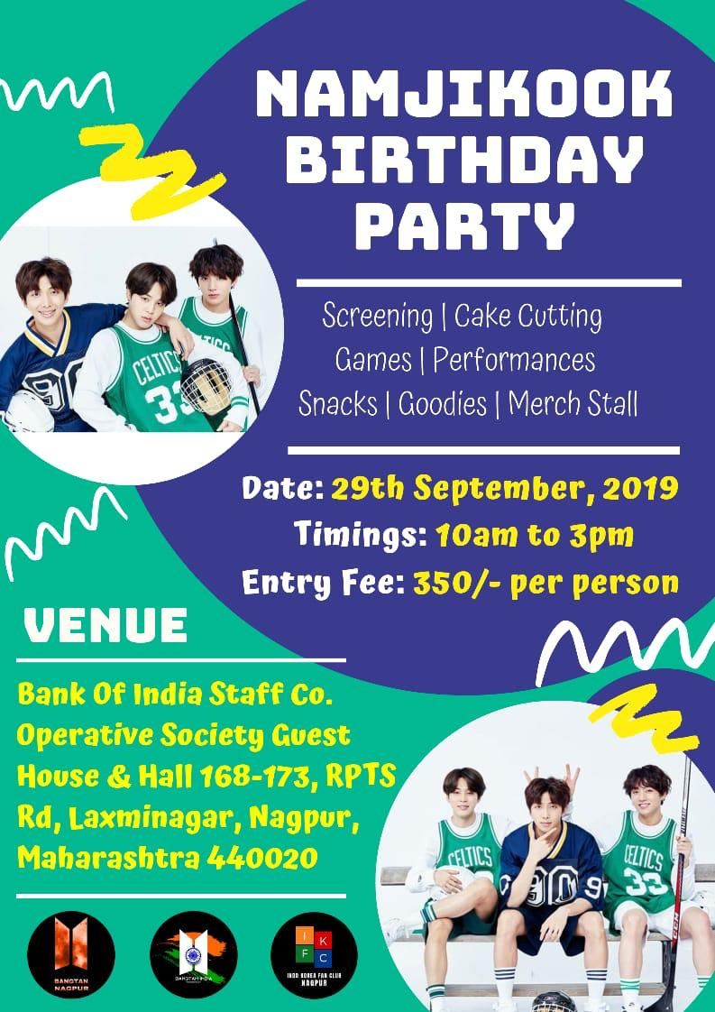 Call for Nagpur ARMYs!📢 Were hosting an ARMY Meet for JK, RM & JMs birthday at Nagpur in collaboration with Bangtan India (@BangtanINDIA) & Indo Korea Fan Club (@ ikfc.nagpur - IG)💜 We hope you guys join us and enjoy with us Registration link - docs.google.com/forms/d/e/1FAI…
