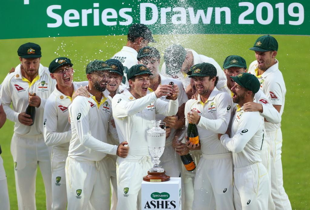 Series drawn -    The #Ashes will return to Australia!<br>http://pic.twitter.com/gBGBGCJCpM