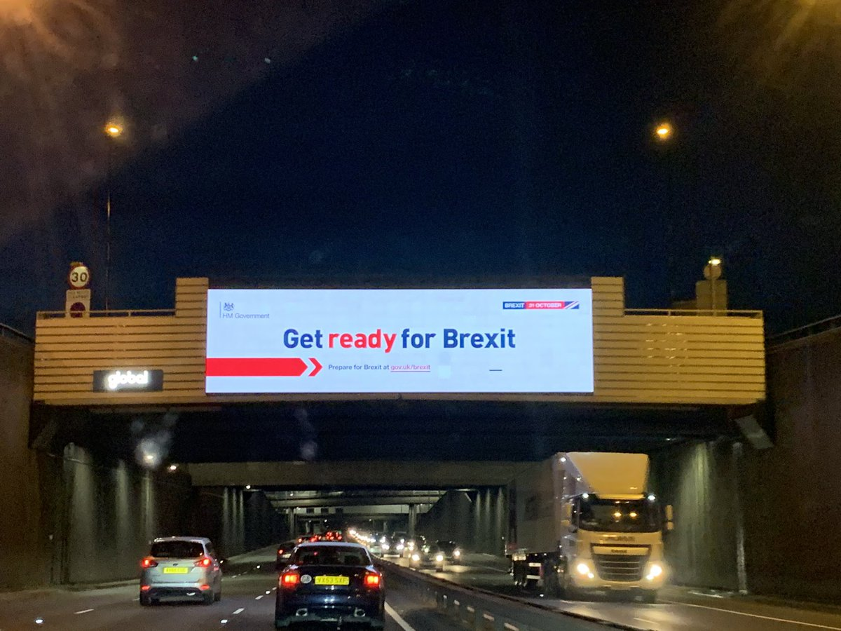 Driving back into London #GetReadyForBrexit ❤️
