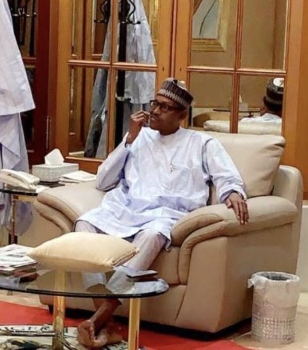 Buhari's so marked he's the first Nigerian president that hard a tracker #Buharimeter installed by CSOs to monitor his administration every step of the way yet you claim the bar has been lowered. Nawa oh <br>http://pic.twitter.com/A2ZnAtxIGa