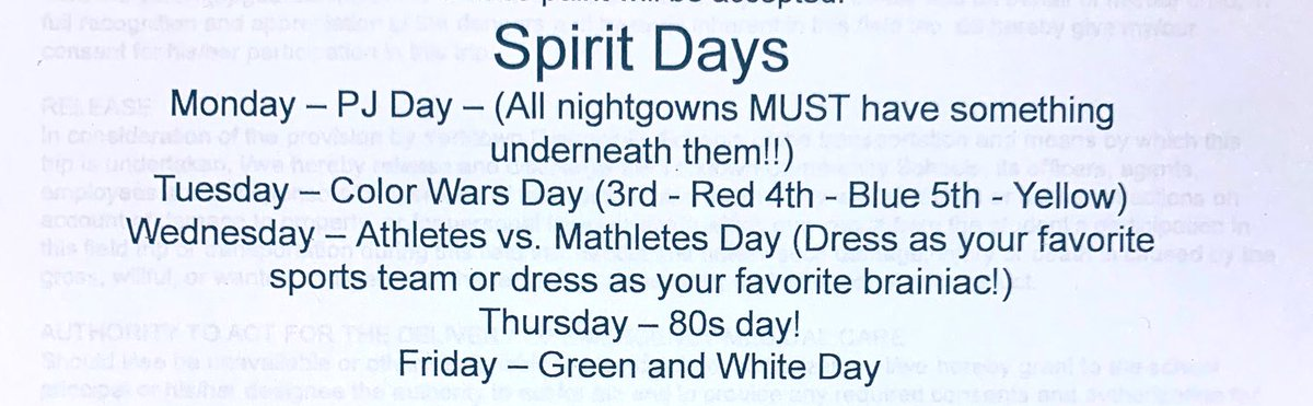 👇🏼 Don't forget about Spirit Week starting tomorrow! #YESTigers180 #LogansLearners👇🏼