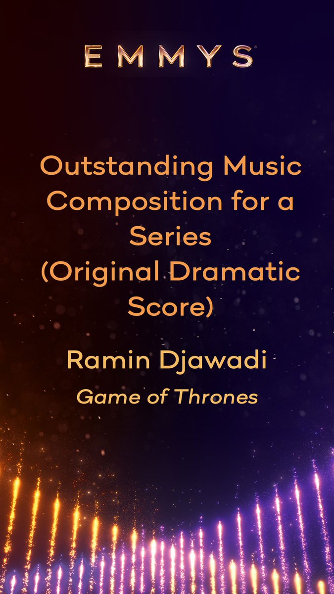 And the #Emmy winner for Outstanding Music Composition for a Series (Original Dramatic Score)