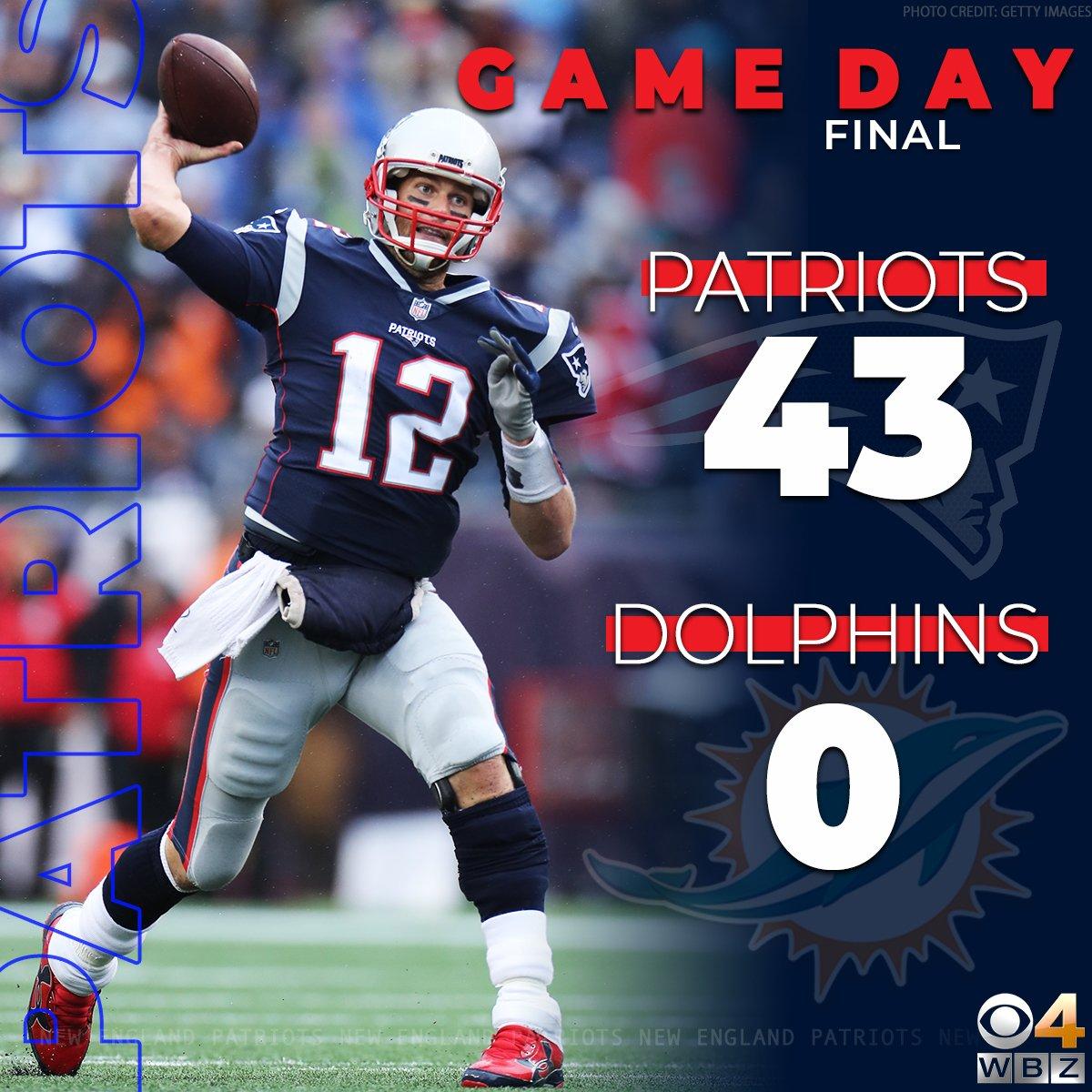 Brown Debuts, #Patriots Defense Dominates Dolphins in 43-0 Victory: cbsloc.al/2AlICyh