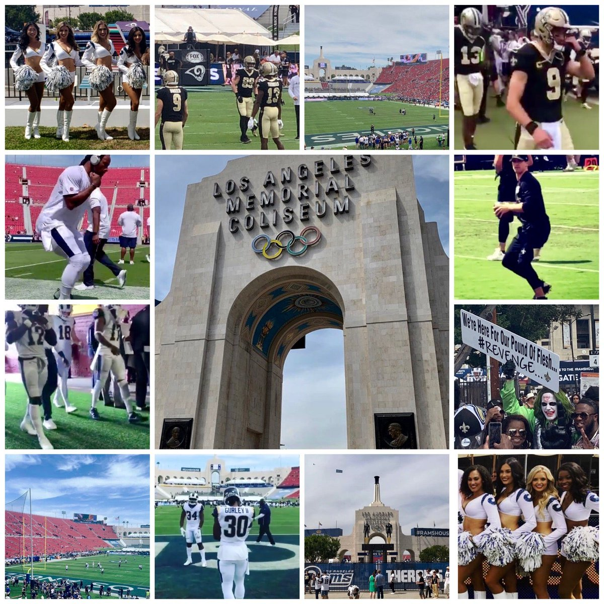 Game Of The Week! @NFLonFOX #NOvsLAR #Saints #LARams #NFL100 #WeReady @kaiserPRmedia (@ Los Angeles Memorial Coliseum - @lacoliseum in Los Angeles, CA) swarmapp.com/c/4AnH1zW4NFs