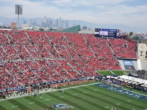 The Rams are the reigning NFC Champions and this is the crowd they get in LA. What a joke. #FucktheNFL #FuckKroenke