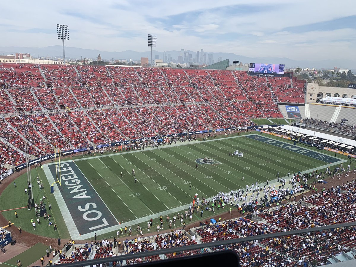 """Another view. Right before kickoff. """"LoOkS PaCKeD tO mE"""""""