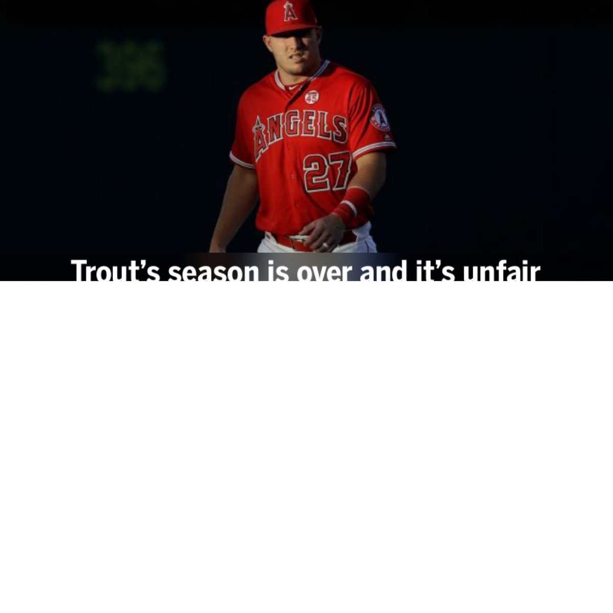 When I opened up AtBat and saw the Trout news and opened it... this is what I got... seems about right... #TheHaloWay  I got nothing...  The whole season long... summed up in one page... nothing... Well Done... <br>http://pic.twitter.com/IHBaRNnSxW