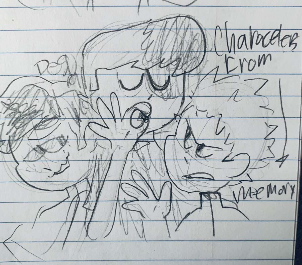 this kid that sat next to me was an a hole and he likes anime so I drew the #mha characters passing a doobieoh and maybe #4styles ?¿ sorry for the lovely blue lines