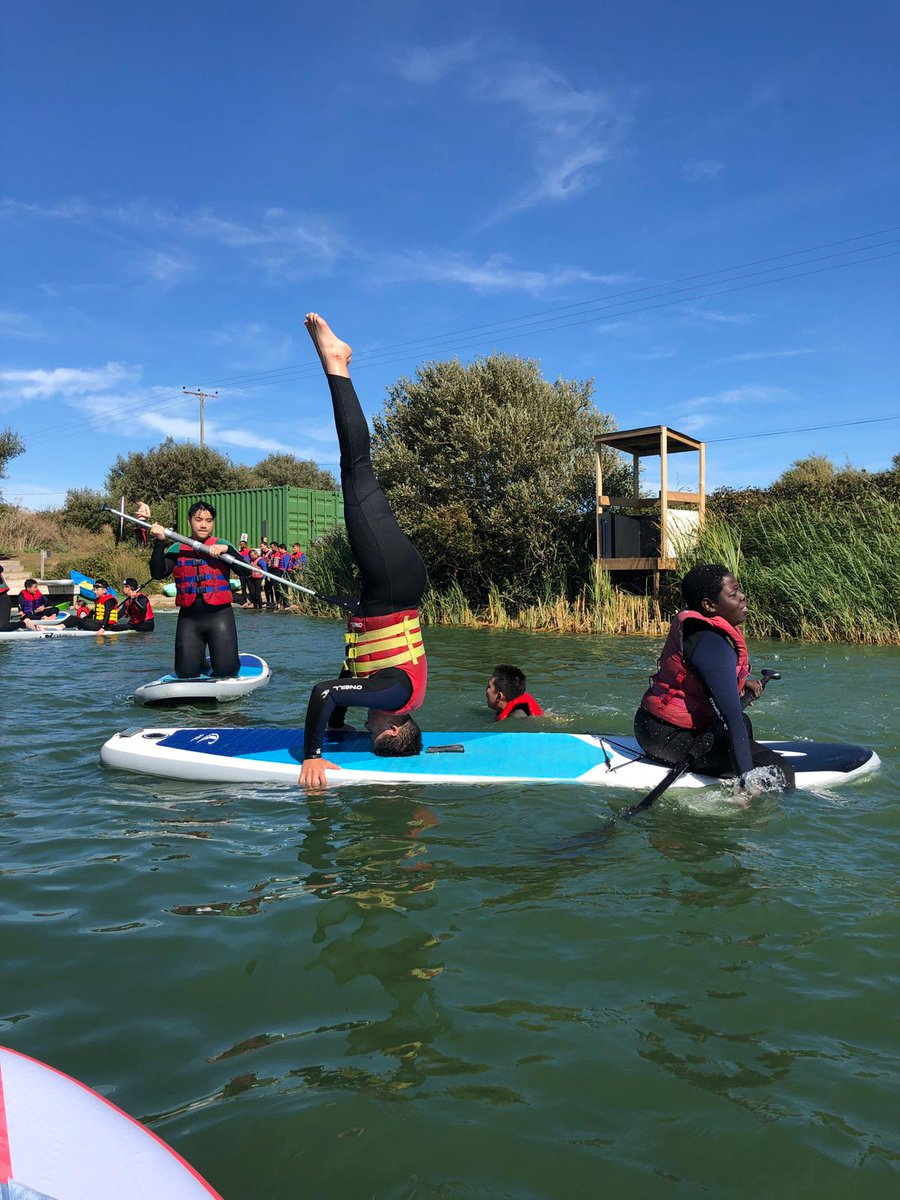 A great day to be out on the lake - paddle boarding with our adventurous boarders #iloveboarding https://t.co/qBCqL2pQIC