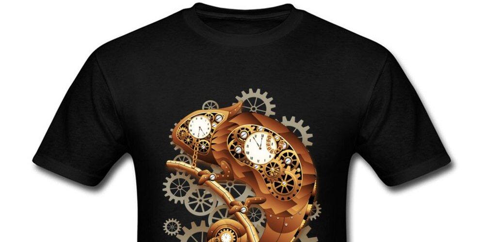 #steampunk Chameleon Steampunk Fashionable T-shirts https://t.co/gzKpwftXCT