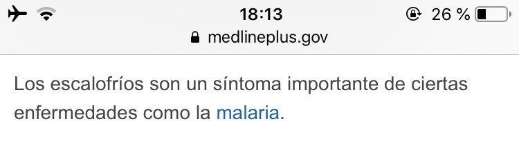 sintomas escalofrios sin fiebre