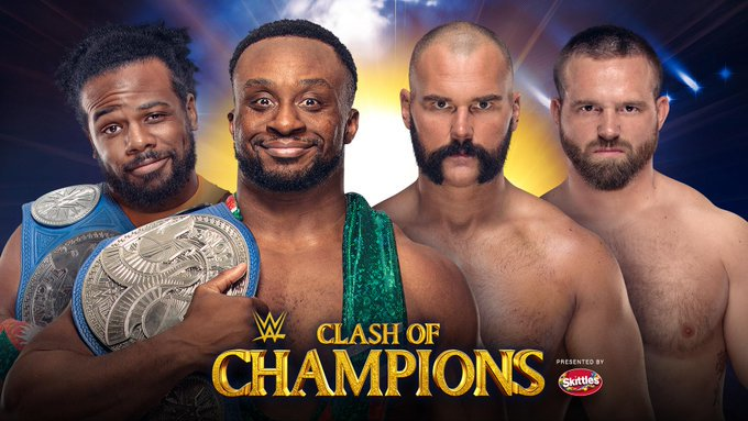 #TheNewDay members @WWEBigE @XavierWoodsPhD defend the #SmackDownLive #TagTeamTitles against #TheRevival @ScottDawsonWWE @DashWilderWWE #SDLive #TagTitles #TagTeamChampionship #WWEClash #ClashOfChampions #WWEClashOfChampions