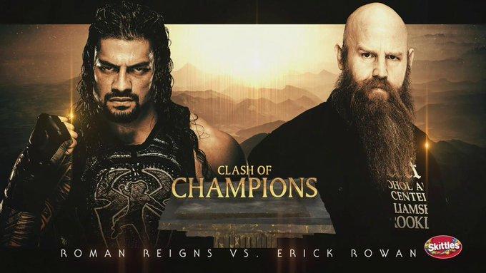 #TheBigDog @WWERomanReigns against @ERICKROWAN in a #NoDQ #NoDisqualification match #SDLive #WWEClash #ClashOfChampions #WWEClashOfChampions