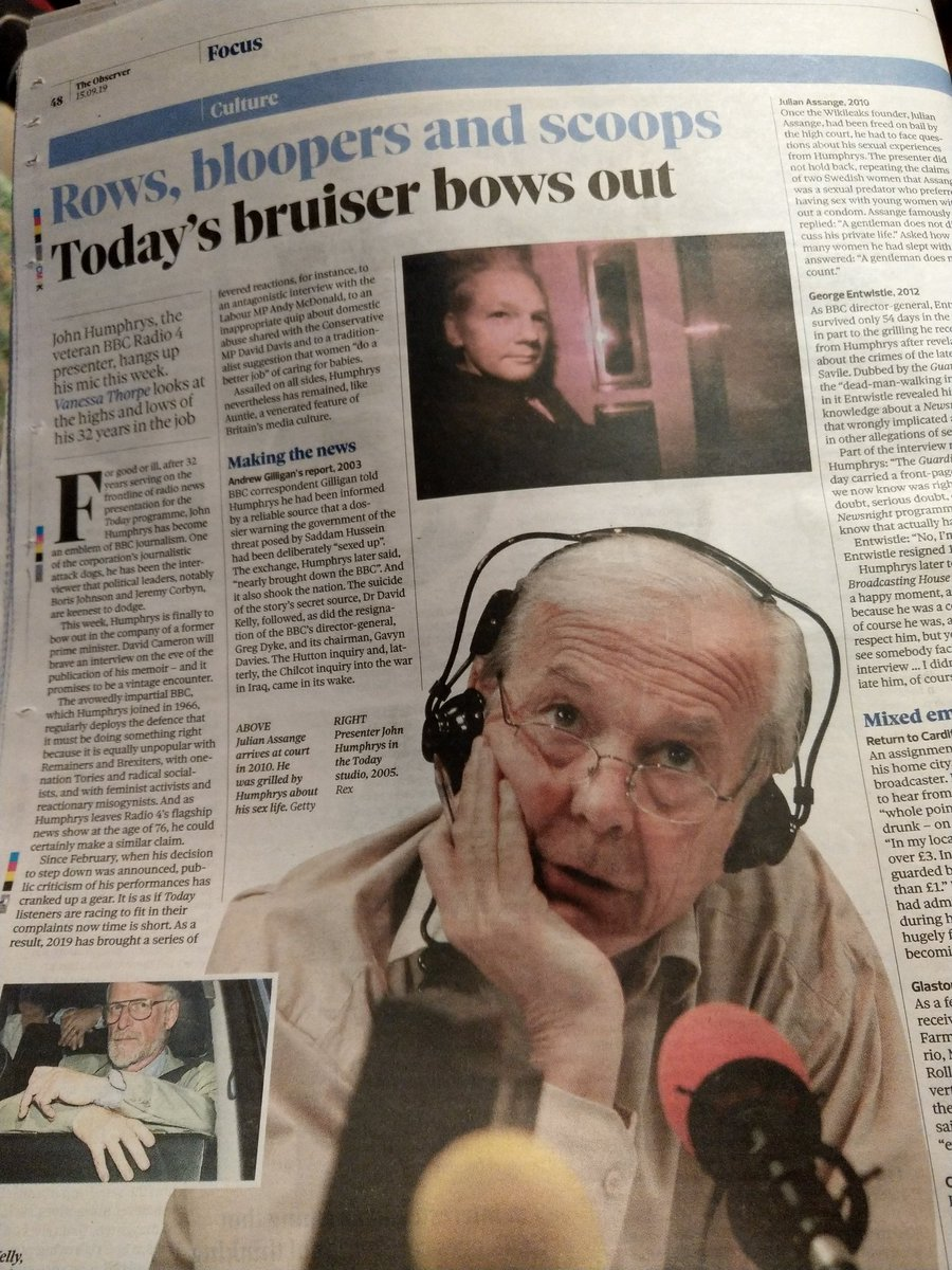 Whilst I would love to see #JohnHumphrys tear #DavidCameron apart live on #r4today, the latter should not be given a platform to sell his sodding book. @guardian #Brexistance #StopBrexit #RevokeArticle50