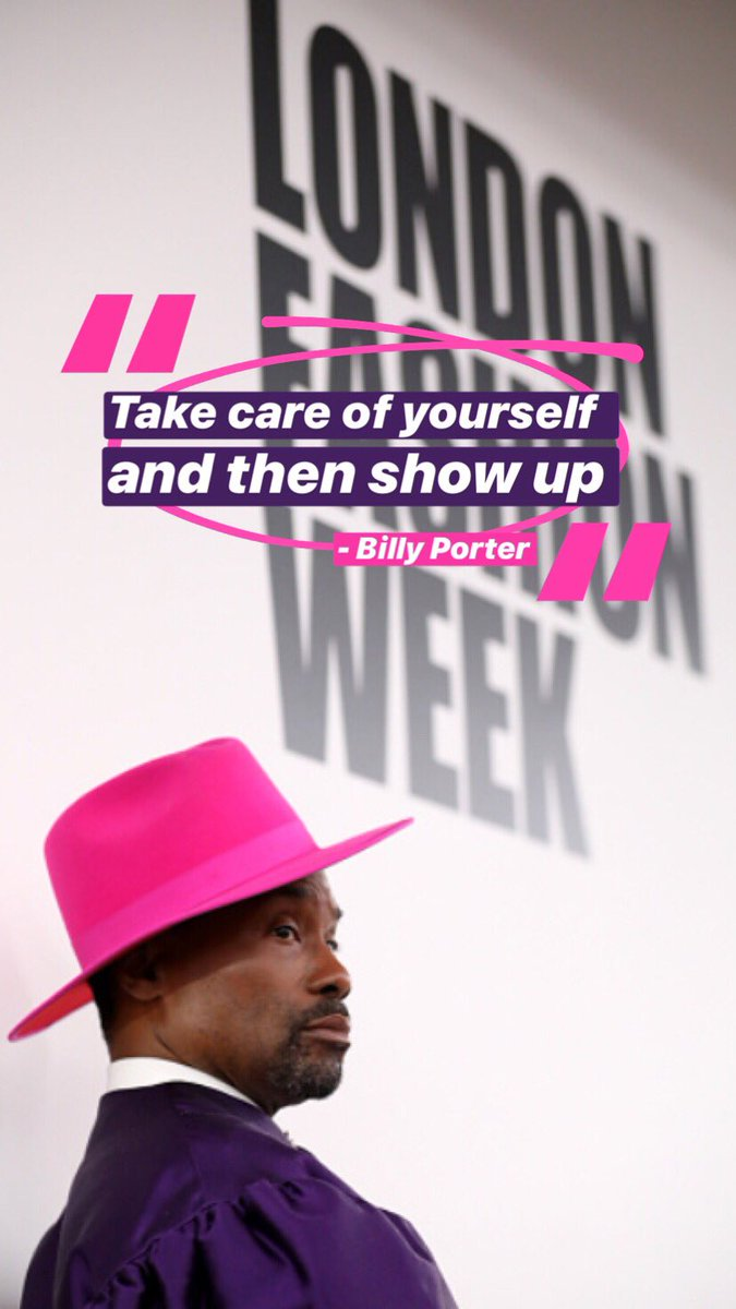 This is my new motto in life 🙏🏼💕 @theebillyporter #LFW #LondonFashionWeek #BillyPorter
