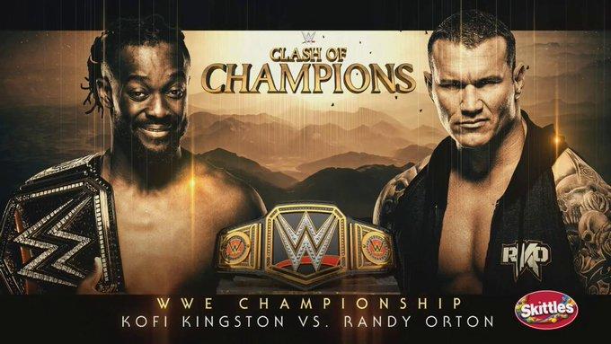 #TheNewDay member @TrueKofi defends the #WWETitle against #TheViper #RKO owner @RandyOrton #SDLive #WWEChampionship #WWEClash #ClashOfChampions #WWEClashOfChampions