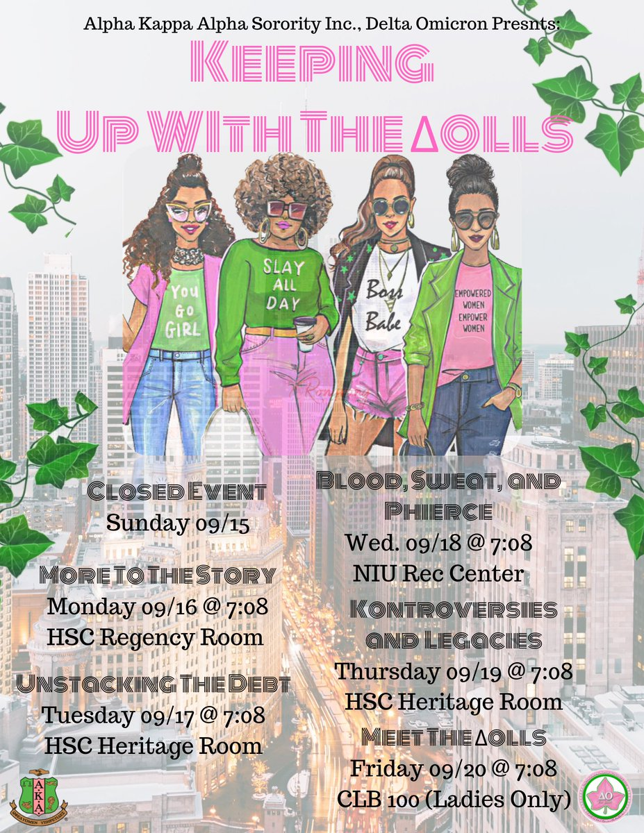 The  Dazzling ΔΟlls have returned for another season of Klass and Kulture 💅🏻💚 Dont miss the Season Premiere Happening Tomorrow in HSC Regency Room @ 7:08pm. Tune in with the the ΔΟlls as they unveil HBCU's. Skee ya there 💕💚