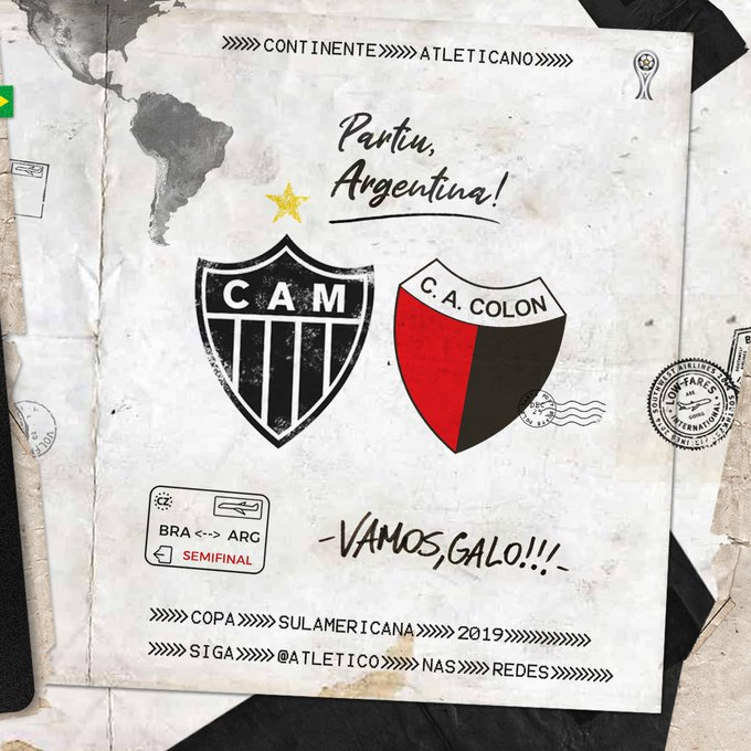 ✈️🇦🇷 Viagem para a Argentina será na terça-feira: https://t.co/pPp5pqG8x7   Vamos, #Galo! 🏴🏳️ https://t.co/fiAgtyxheq