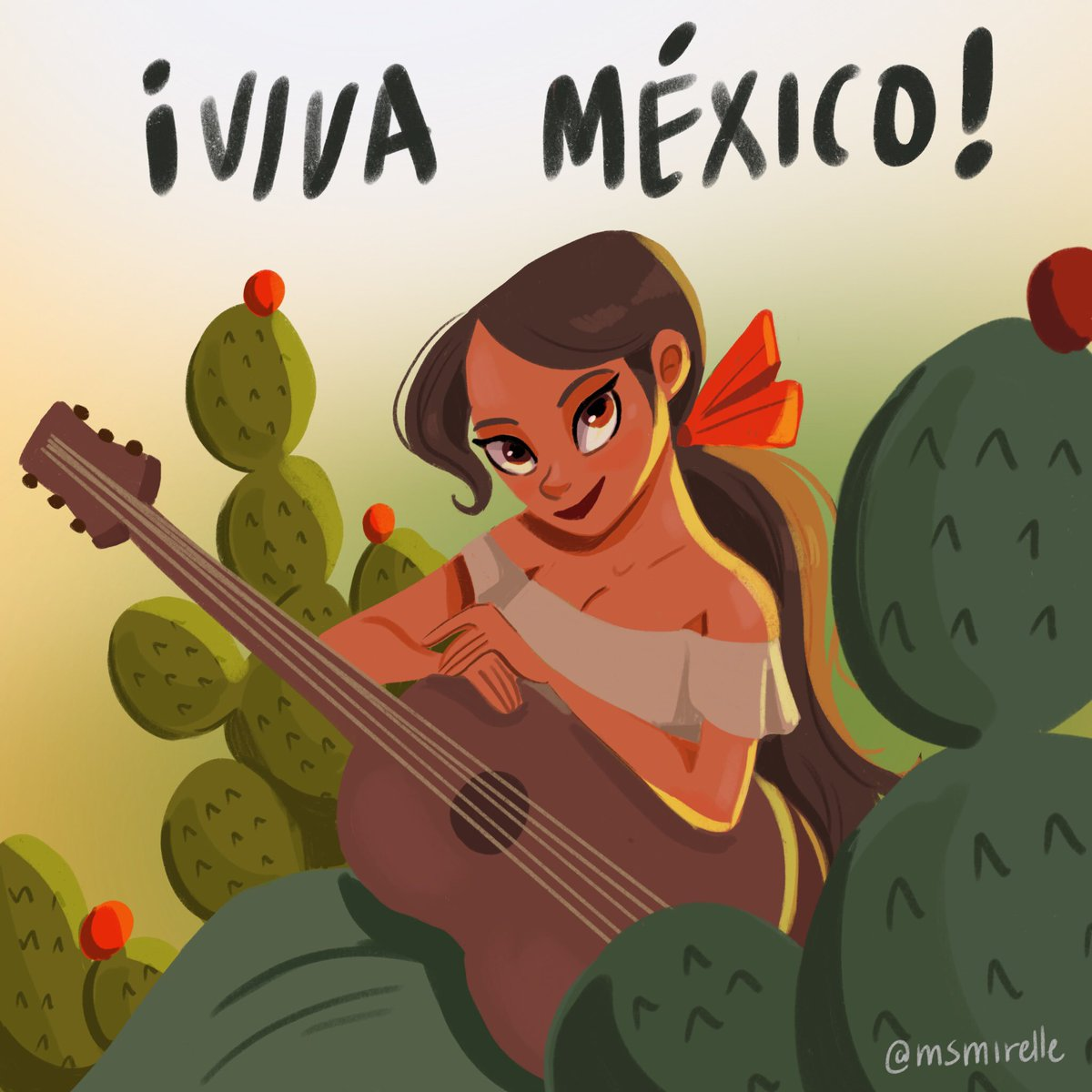 Happy Mexican Independence Day to everyone celebrating the #GritoDeIndependencia  tonight! And happy Hispanic Heritage Month!!  Illustrated with  @procreate   #VivaMexico  #HispanicHeritageMonth <br>http://pic.twitter.com/cz7I1kB9Pi