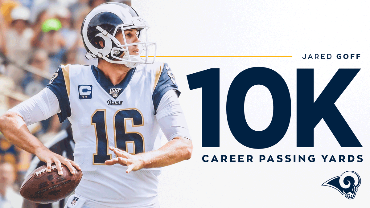 THATS OUR QB. 10,000 career passing yards for @JaredGoff16! 👏