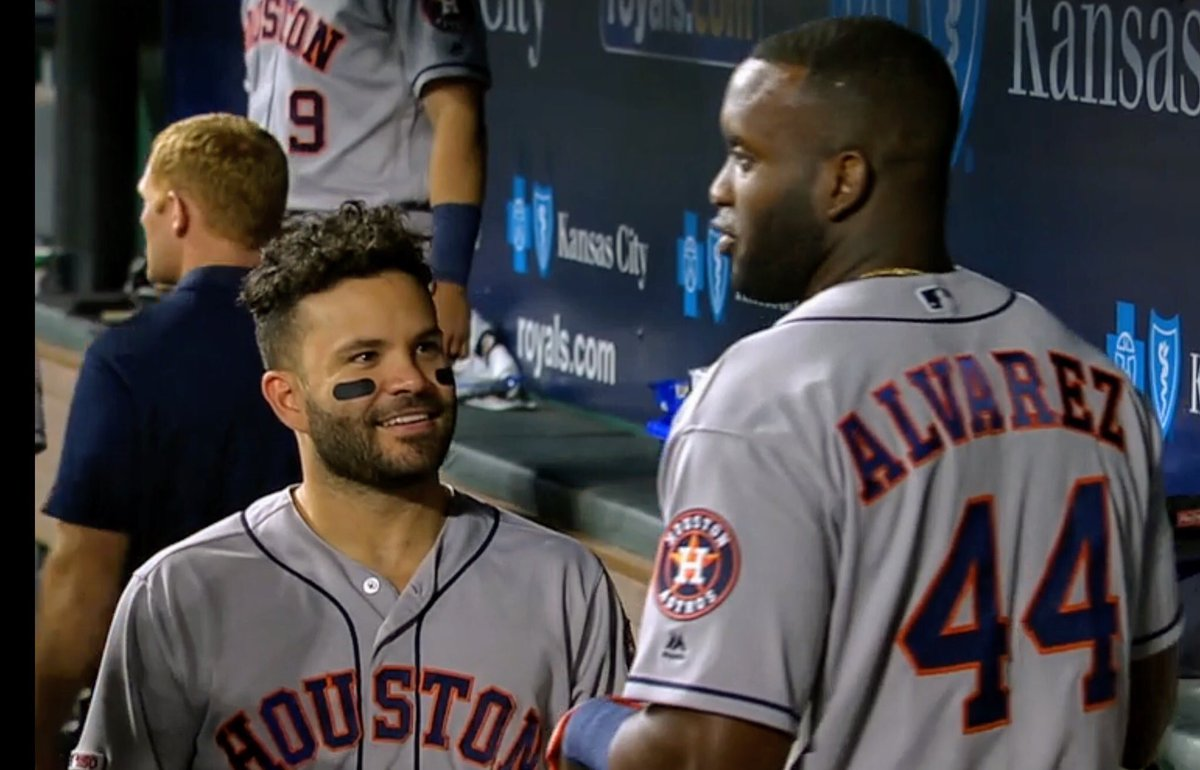Find someone that looks at you like the way Altuve looks at Yordan Alvarez