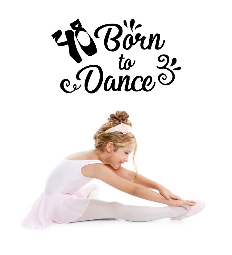 Whether your tap, tumble or twirl, let the world know you were Born to Dance with our adorable removable wall decal.  http://whimsidecals.com#dance #dancers #dancedance #dancer #whimsidecals #dancedancedance #ballet #dancelife #danceon #dancelover #danceforlife #danceclass