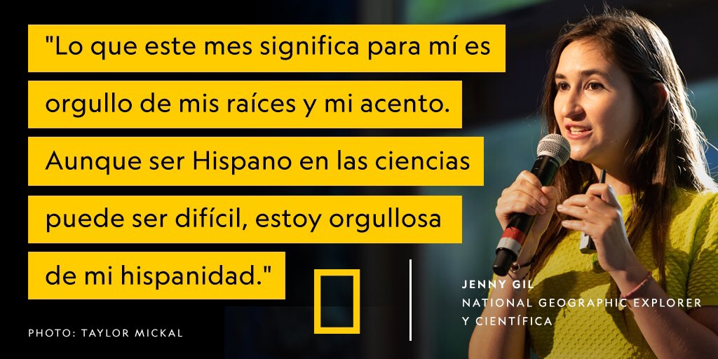 National Geographic Society On Twitter Being Hispanic Is What Makes Me Unique And Gives Me Different Creative Ideas Says Fulbrightprgrm National Geographic Fellow Jennymycro As A Science Communicator She Shares Her Work