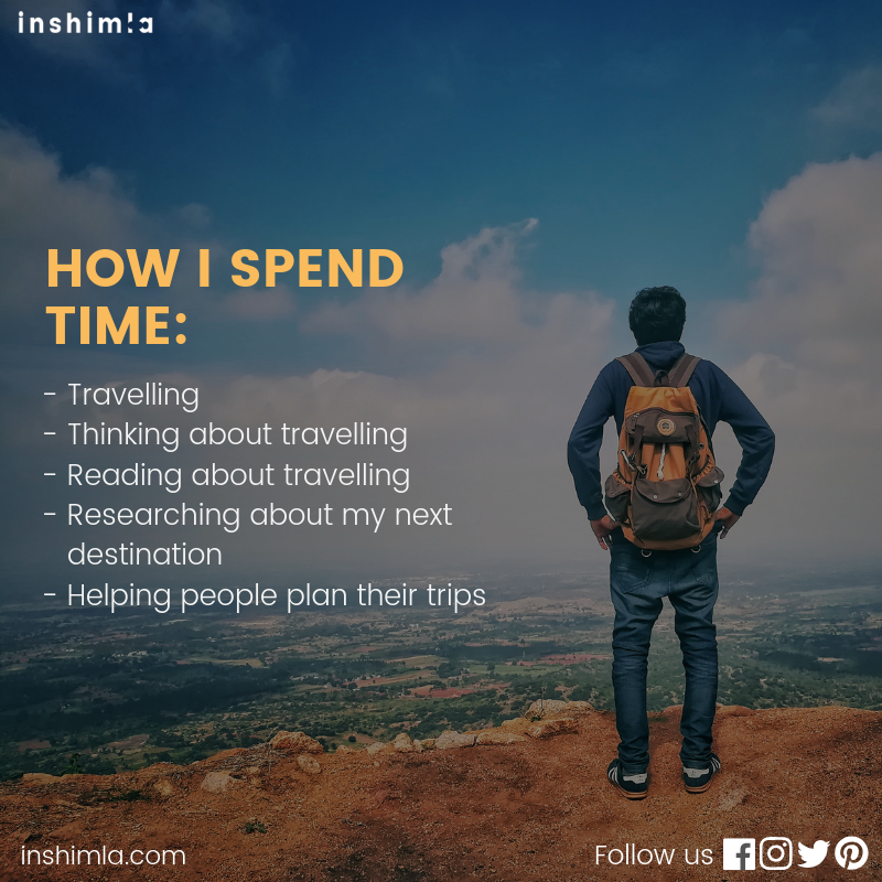 So, what are your hobbies? ....⠀⠀#exploremore #neverstoptravelling #neverstopexploring #shimla #lifeofadventure #travelquotes #travel #inshimla #indianphotography #himalayas #awesomehimachal