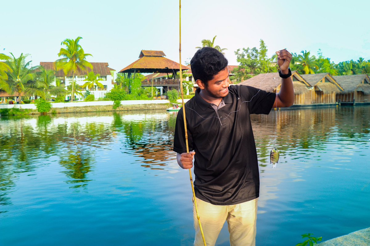If Engineering goes wrong looks like we got fishing 🎣😂#fishing #alapuzha #weekend #Procrastifishing - The art of going fishing when you should really be doing something else.#outdoors #fish #nature #water #backwaters #Kerala