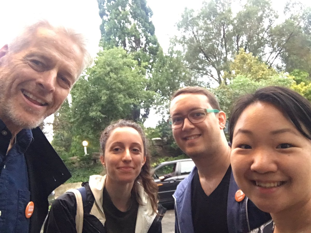What a fantastic canvass tonight with #SpaFY's @ChrisGloverMPP, Monica, and Marc!    People know our current gov't talks a lot about affordable housing but aren't seeing the results. That's why they're voting NDP - the party who will put people first, not profit. #elxn43 <br>http://pic.twitter.com/0tLXprccrO – à Little Norway Park
